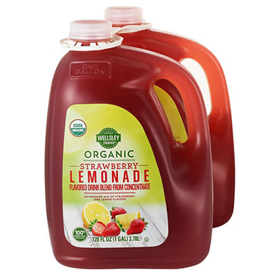 Wellsley Farms Organic Strawberry Lemonade, 2 ct./1 gal.