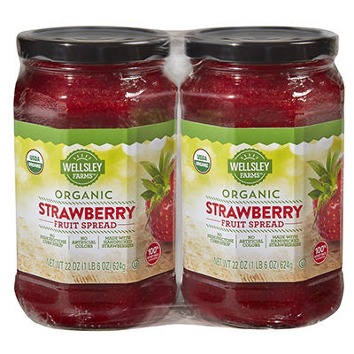 Wellsley Farms Organic Strawberry Preserves, 2 pk./22 oz.