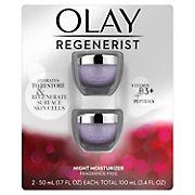 Olay Regenerist Night Recovery Cream Face Moisturizer, Fragrance-Free, 2 pk./1.7 oz.