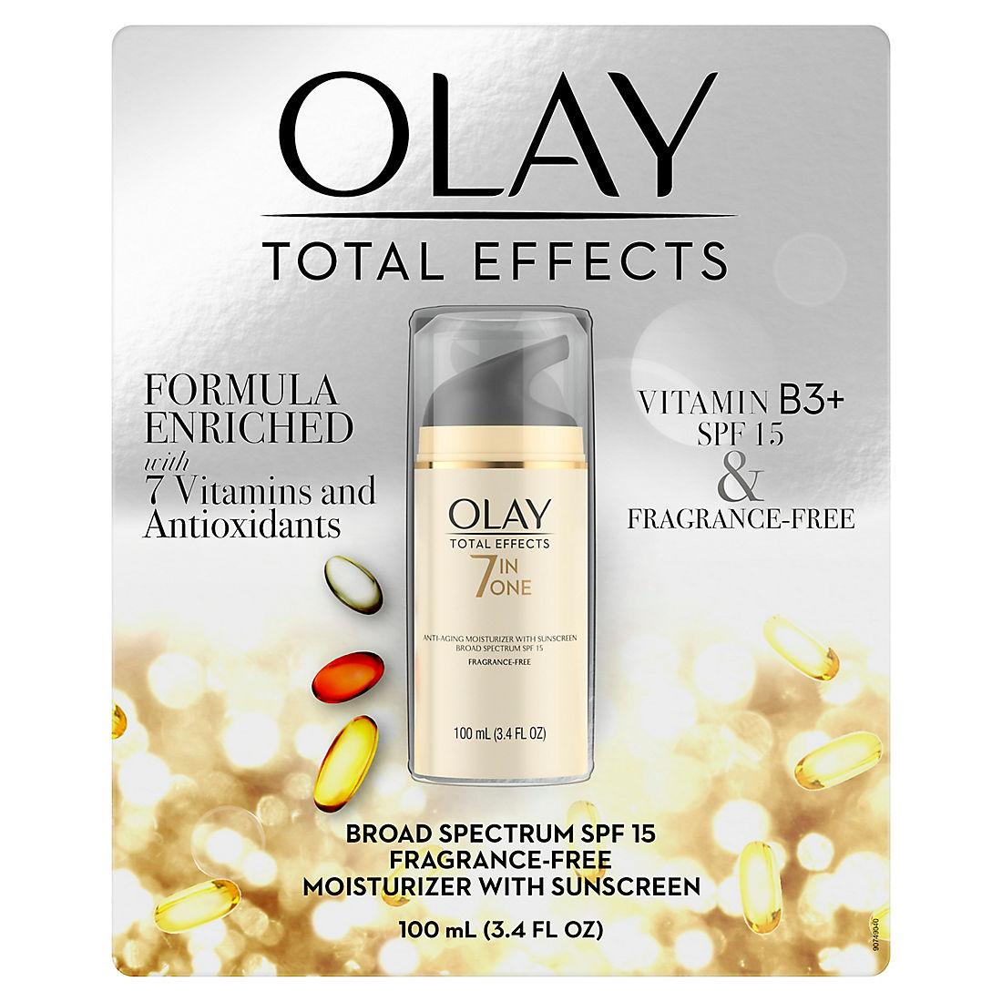 Olay Total Effects 7-in-1 Anti-Aging Moisturizer SPF 15 Fragrance-Free, 3 4  fl oz