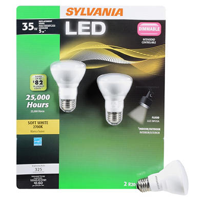 Sylvania 40W Equivalent R20 LED Light Bulb, 2 pk. - Soft White
