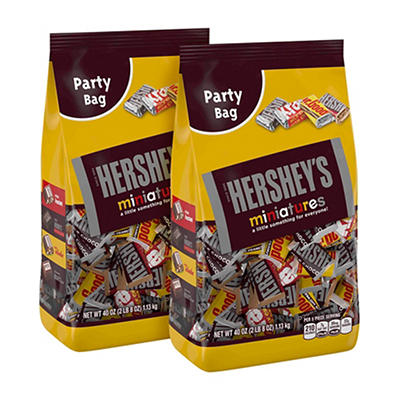 Hershey's Miniatures Party Bag, 2 pk./40 oz.