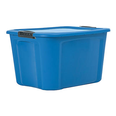 Bella 20-Gal. Tote with Locking Lid - Process Blue