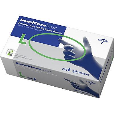 Medline SensiCare Ice Powder-Free Large Nitrile Exam Gloves, 250 ct. -