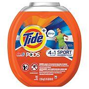 Tide PODS Plus Febreze Odor Defense Laundry Detergent Pacs, Active Fresh Scent, 80 ct.