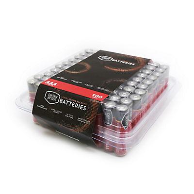 Berkley Jensen AAA Alkaline Batteries with Reclosable Box, 100 ct.