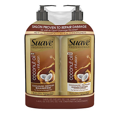 Suave Professionals Coconut Oil Infusion Damage Repair Shampoo, 40 oz.