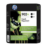 HP 902XL Black Ink Cartridges, 2 pk.