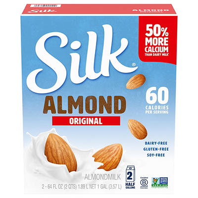 Silk Original Almond Milk, 2 pk./64 oz.