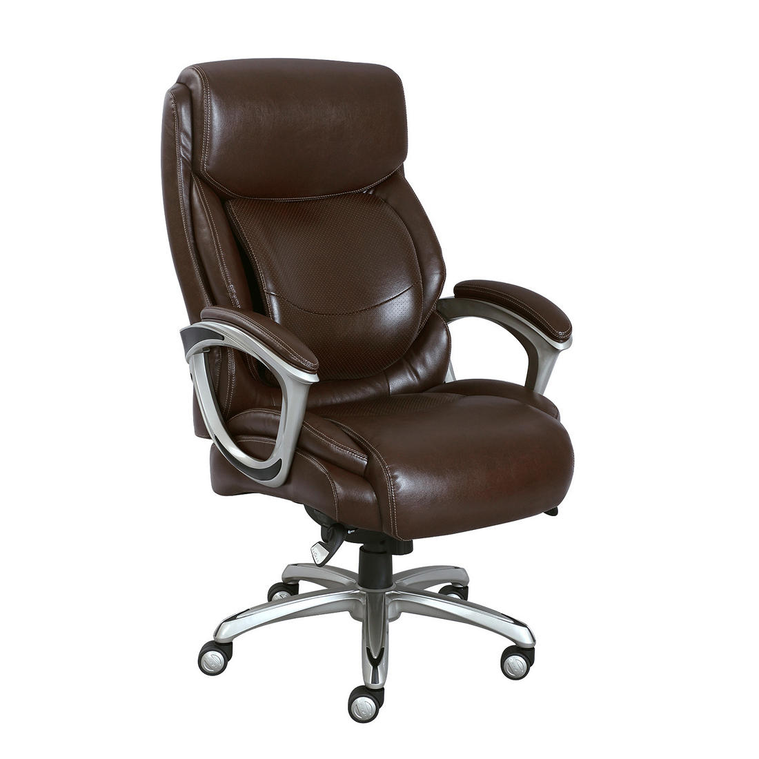 Lazy Boy Chair >> La Z Boy Big And Tall Bonded Leather Executive Chair Brown