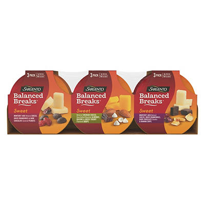 Sargento Sweet Balanced Breaks, 9 ct.