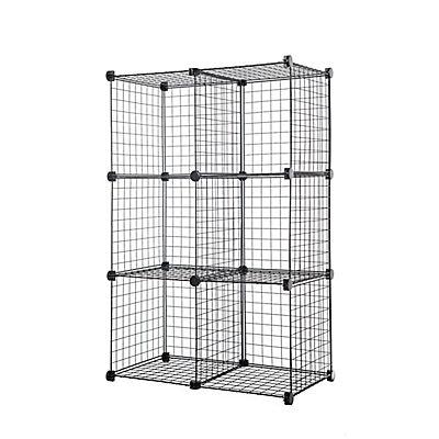 6-Cube Wire Organizer - Black
