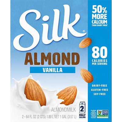Silk Vanilla Almond Milk, 2pk./64 oz.
