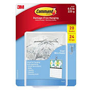 Command Small Wire Hooks, 20 ct. - Clear