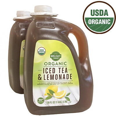 Wellsley Farms Organic Tea & Lemonade, 2 ct./1 gal.
