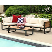 W. Trends 4-Pc. Contemporary Patio Chat Set - Beige