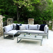 W. Trends 4-Pc. Contemporary Patio Chat Set - Gray