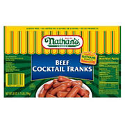 Nathan's Famous Beef Cocktail Franks, 28 oz.