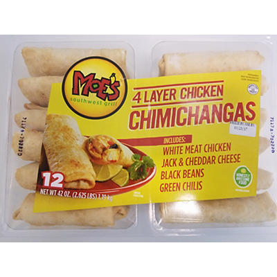 Moe's Chicken Chimichangas, 12 ct.