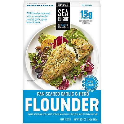 Sea Cuisine Garlic & Herb Flounder, 30.4 oz.