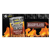 Bush's Grillin' Beans Bourbon and Brown Sugar, 6 ct./22 oz.
