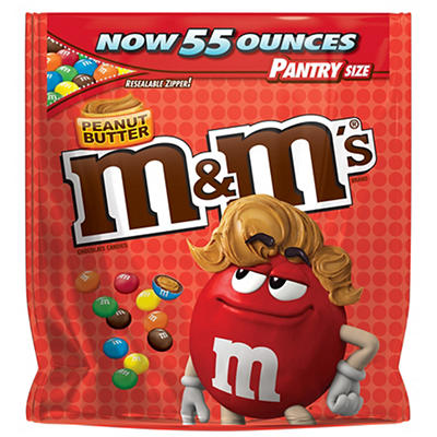 M&M's Peanut Butter Candies, 55 oz.