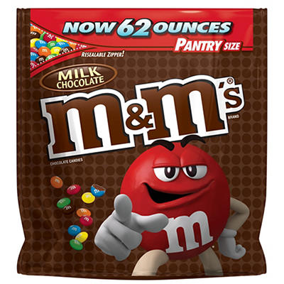 M&M's Milk Chocolate Candies, 62 oz.