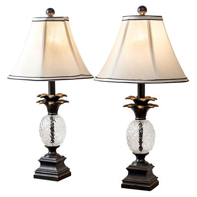 Abbyson Living Pineapple Table Lamp, 2 pk.