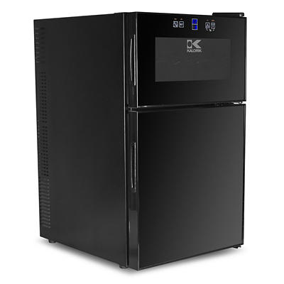 Kalorik 2-in-1 Mini-Fridge and 8-Bottle Wine Cooler