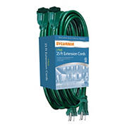 Sylvania 25' Extension Cords, 2 pk.