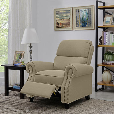 ProLounger Push-Back Recliner - Tan Linen