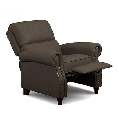 ProLounger Linen Push-Back Recliner - Brown