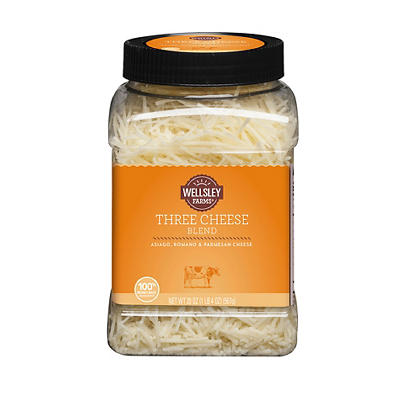 Wellsley Farms Shredded Three Cheese Blend, 20 oz.