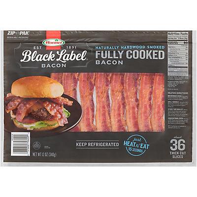 Hormel Black Label Fully Cooked Naturally Hardwood Smoked Bacon, 12 oz