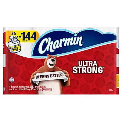 Charmin Ultra Strong Mega Rolls 308-Sheet 2-Ply Bath Tissue, 36 pk.