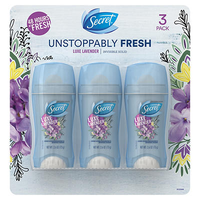 Secret Fresh Invisible Solid Luxe Lavender  Antiperspirant and Deodora