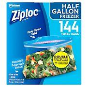 Ziploc 0.5-Gal. Freezer Bags, 144 pk.