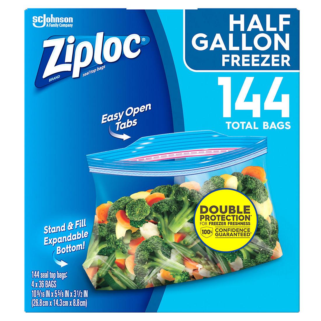 Ziploc 0 5 Gal Freezer Bags 144 Pk