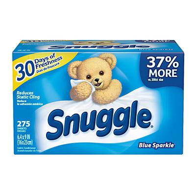 Snuggle Blue Sparkle Dryer Sheets, 275 ct.
