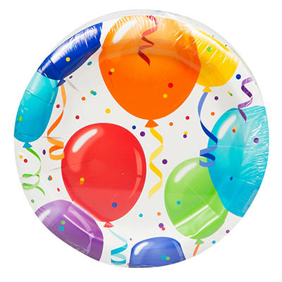 "Artstyle 7"" Plates, 75 ct. - Birthday Balloon"