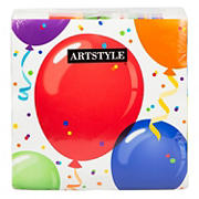 "Artstyle 13"" Napkins, 120 ct. - Birthday Balloon"