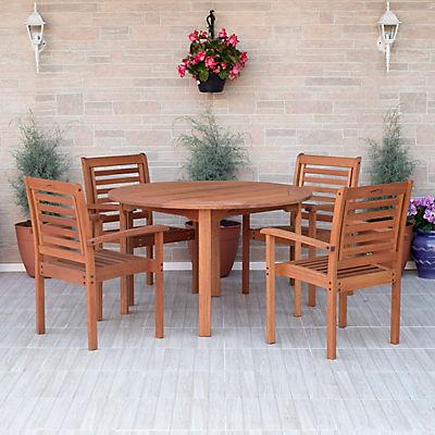 Amazonia Torino 5-Pc. Eucalyptus Dining Set - Brown