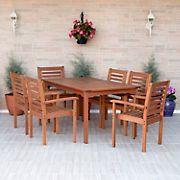 Amazonia Torino 7-Pc. Eucalyptus Rectangular Dining Set - Brown