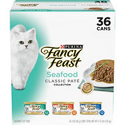 Purina Fancy Feast Classic Seafood Feast Variety Cat Food, 36 pk./3 oz.