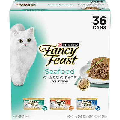 Purina Fancy Feast Classic Seafood Feast Variety Cat Food, 36 pk./3 oz
