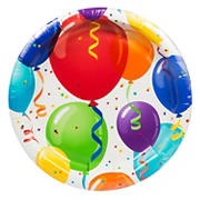"Artstyle 10"" Plates, 40 ct. - Birthday Balloon"