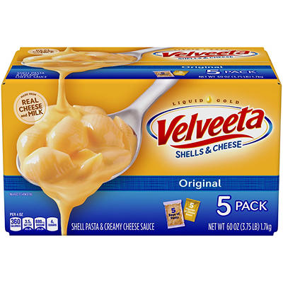 Kraft Velveeta Shells & Cheese, 5 pk./12 oz.