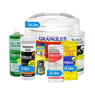 Robelle Chemical Maintenance Kit with 50 lbs. of Concentrated Granules