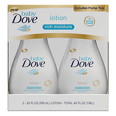 Baby Dove Rich Moisture Lotion, 2 pk./20 oz.