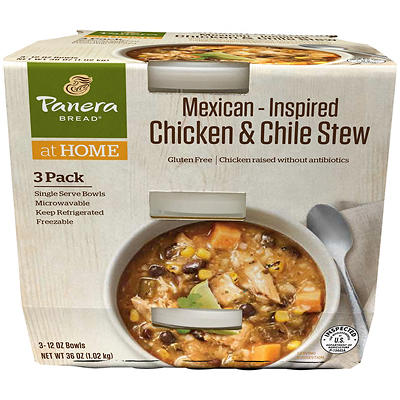 Panera Mexican-Inspired Chicken & Chile Stew, 3 ct./12 oz.